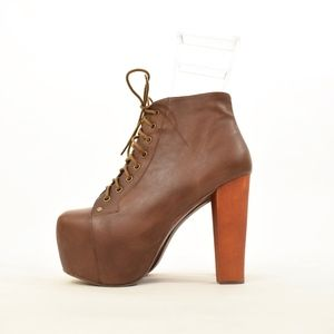Jeffrey Campbell Lita boot in Brown Leather